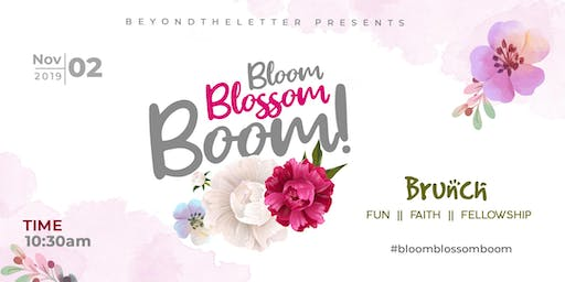 Bloom. Blossom. Boom!: Brunch, bowling and fellowship
