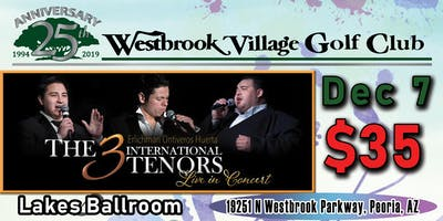 The 3 International Tenors at Westbrook Village Golf Club