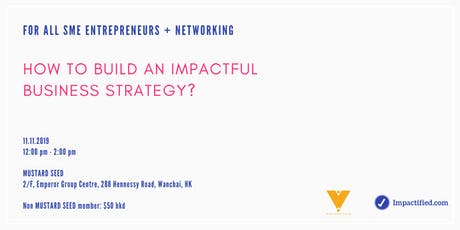 How to build an impactful business strategy? tickets