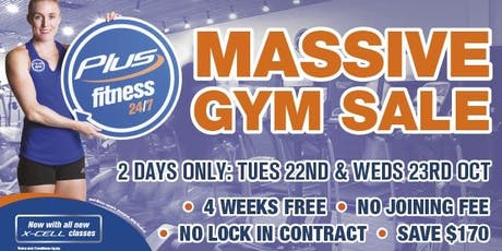 Plus Fitness Thornleigh Massive ANNUAL Gym SALE tickets
