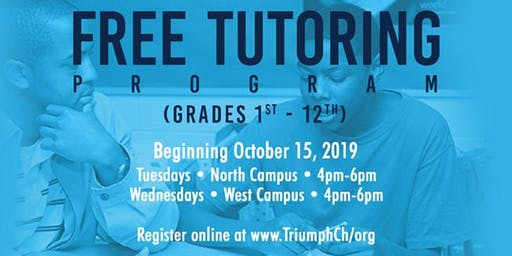 Triumph's FREE Tutoring (Wednesdays)