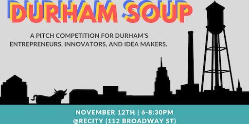 Durham SOUP: A Pitch Competition for Social Entrepreneurs