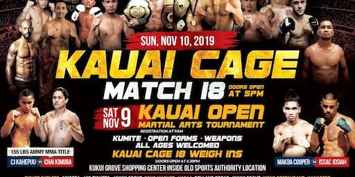 Ainofea's Kauai Cage Match 18- MMA & Kickboxing event