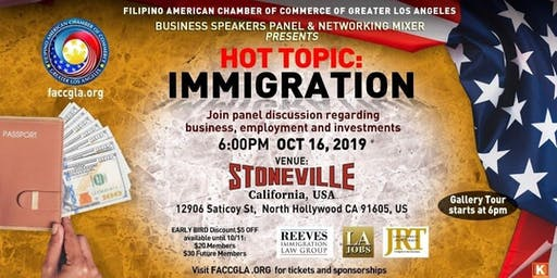 Hot Topic: Immigration. Business Speakers Panel & Networking Mixer