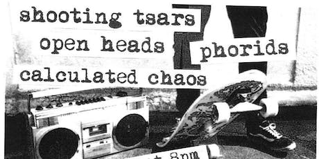 Shooting Tsars, Calculated Chaos, Open Heads, Phorids @ Andy's Bar (Venue) tickets