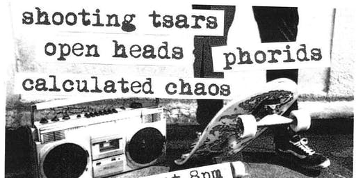 Shooting Tsars, Calculated Chaos, Open Heads, Phorids @ Andy's Bar (Venue)