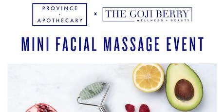 Province Apothecary Mini Facial Massage tickets