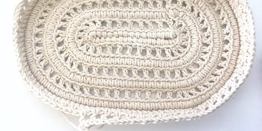 Rhythmia Show Opening Crochet Ceramic Vessels by Liz Sofield
