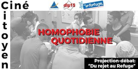"""Ciné-Citoyen: """"Homophobie Quotidienne"""", en partenariat avec Le Refuge billets"""