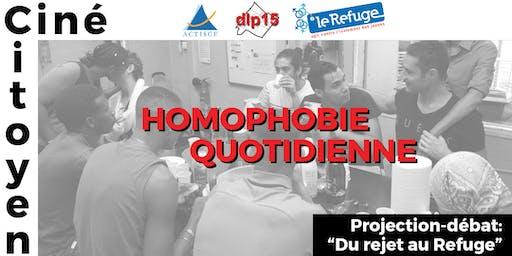 """Ciné-Citoyen: """"Homophobie Quotidienne"""", en partenariat avec Le Refuge"""