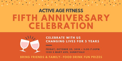 Fifth Anniversary Celebration at Active Age Fitness