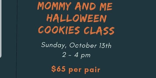 Mommy and me Halloween cookie class