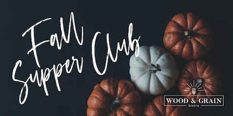 Fall Supper Club tickets