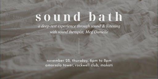 SOUND BATH: A Deep Rest Experience