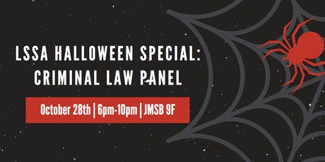 LSSA Halloween Special: Criminal Law Panel tickets
