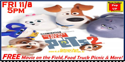 A Free Movie on the Field, Veterans Celebration, Food Truck Picnic & MORE! 11/8 - Secret Life of Pets 2