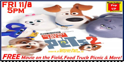 A Veterans Free Movie on the Field, Food Truck Picnic & More! 11/8 - Secret Life of Pets 2