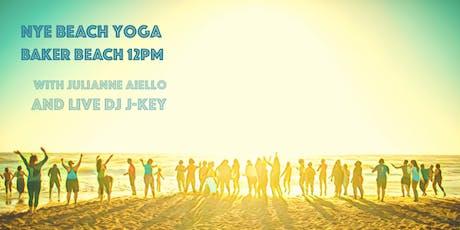 NYE [Silent Disco] Beach Yoga - with Julianne + Live DJ J-Key! tickets