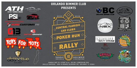 OBC Orlando Bimmer Club Present Central Florida Car Clubs Poker Run Rally tickets
