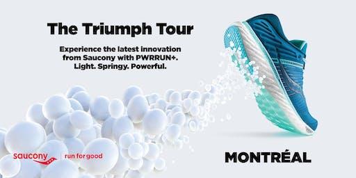 Saucony Triumph Tour | Montréal