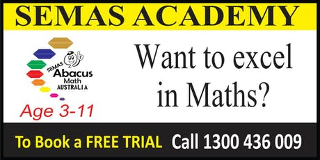 Free 15 minute trial session Abacus Maths Program for 3-12 years old tickets