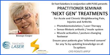 'Next Gen' Treatments for Acute & Chronic Weightbearing Pain, Injuries & Arthritis tickets