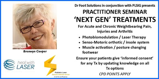 'Next Gen' Treatments for Acute & Chronic Weightbearing Pain, Injuries & Arthritis
