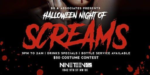 HALLOWEEN NIGHT OF SCREAMS