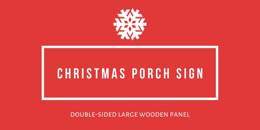 Christmas Porch Sign