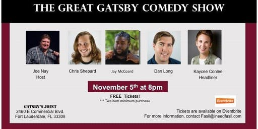 The Great Gatsby Comedy Show