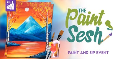 "Paint Night in Downtown Riverside, CA – ""Autumn Lake"""