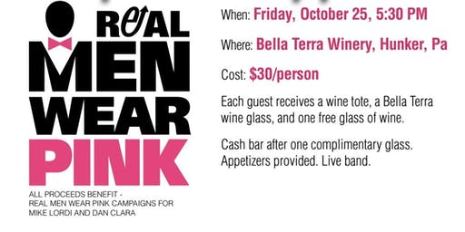 Sip and Support Party for Real Men Wear Pink