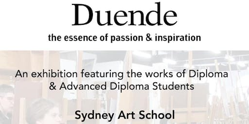Duende - Diploma Student Art Exhibtion at Sydney Art School