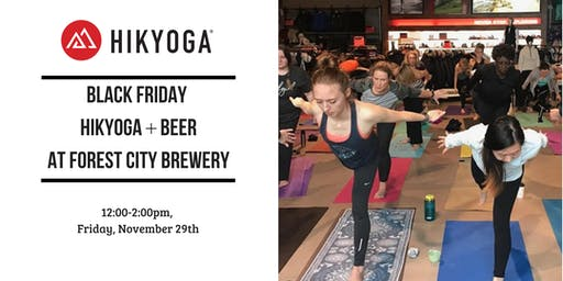 Black Friday Hikyoga + Beer at Forest City Brewery with Alison