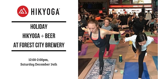 Holiday Hikyoga + Beer at Forest City Brewery with Alison