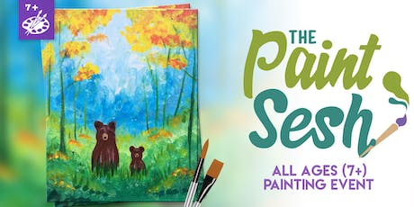 """All Ages Paint Class: Riverside, CA - """"Forest Grizzlies"""" tickets"""