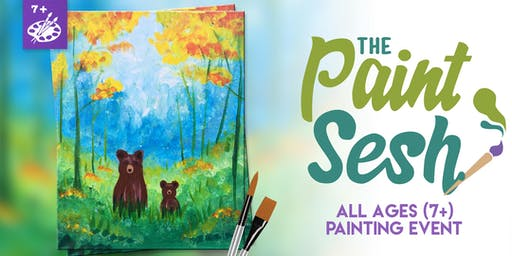 """All Ages Paint Class: Riverside, CA - """"Forest Grizzlies"""""""