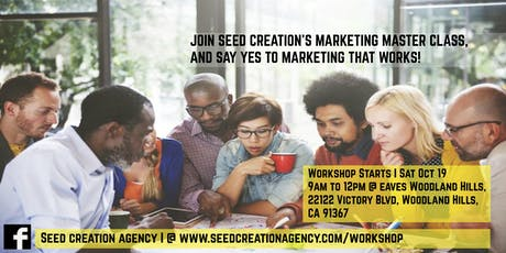 Seed Creation's Marketing Master Class tickets
