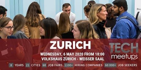 Zurich Tech Job Fair Spring 2020 by Techmeetups tickets