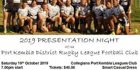 Port Kembla Senior Rugby League Presentation tickets