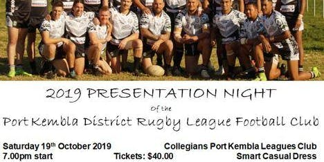 Port Kembla Senior Rugby League Presentation
