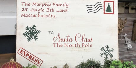 "Letter to Santa 11x16"" Sign tickets"