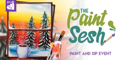 """Paint Night in Downtown Riverside, CA – """"Winter Morning"""""""