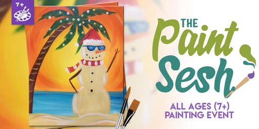 """All Ages Paint Class: Riverside, CA - """"Sandy Clause"""""""