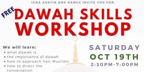 ICNA Austin Dawah Workshop 2019 tickets