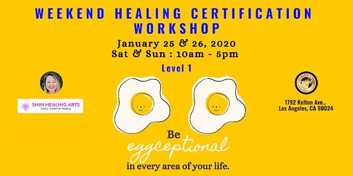 Weekend Healing Certification Workshop-Level 1 image