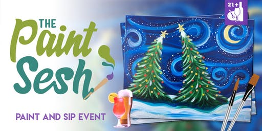 """Paint Night in Norco, CA - """"Snowy Night"""""""