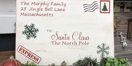 "Letter to Santa 11x16"" Wood Sign tickets"