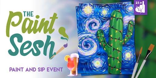 "Paint Night in Downtown Riverside, CA – ""Saguaro Night"""