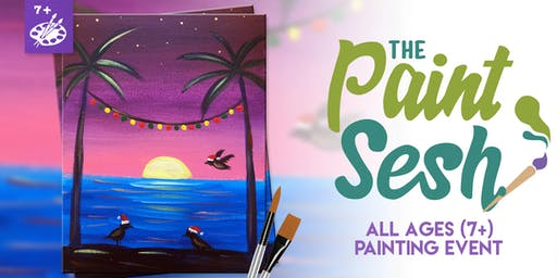 """All Ages Paint Night in Norco, CA - """"Seagulls Greetings"""""""